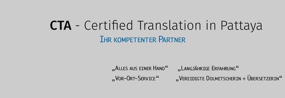 CTA - Certified Translation in Pattaya Thailand